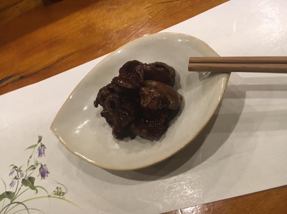 鷄ハツのバルサミコ酢煮